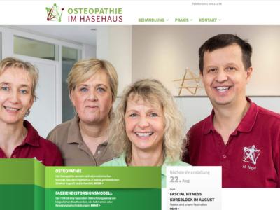 Neue Homepage für Osteopathie im Hasehaus